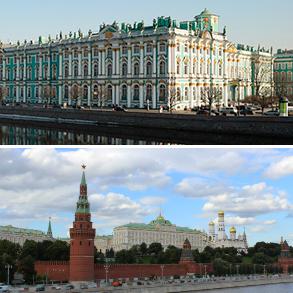 Pakkerejse kombi Moskva og Skt.Petersborg - LIGHT
