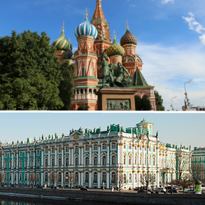 Package Tour - Combination of Moscow and Saint Petersburg