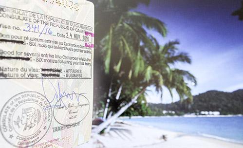 visum til Cameroun flag