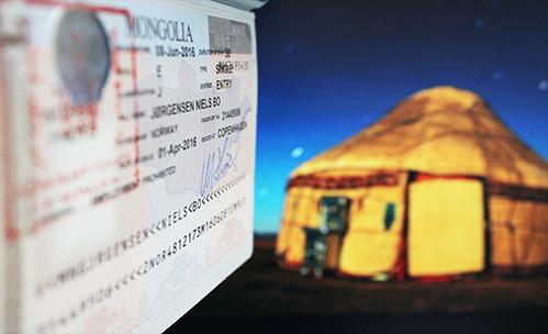 visum til Mongoliet